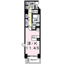 solaire[6階]の間取り