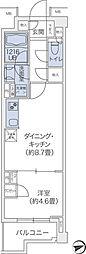 東急東横線 代官山駅 徒歩10分の賃貸マンション 1階1DKの間取り