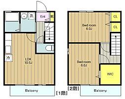 [テラスハウス] 神奈川県大和市上草柳5丁目 の賃貸【/】の間取り