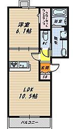 大阪府大阪市都島区都島本通4丁目の賃貸アパートの間取り