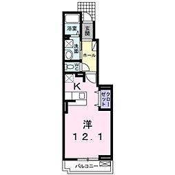 小田急小田原線 鶴川駅 徒歩5分の賃貸アパート 1階1Kの間取り
