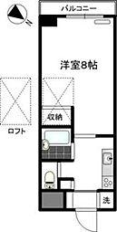 マーベラス弐番館[1階]の間取り