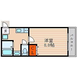 滋賀県彦根市東沼波町の賃貸アパートの間取り