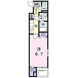京王相模原線 京王堀之内駅 徒歩4分の賃貸マンション 1階1Kの間取り