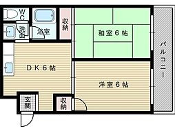 豊里シティハウス[5階]の間取り