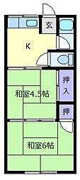 仲町ハイツ[2階]の間取り