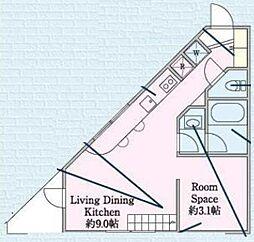 コンフエルサ[2階]の間取り
