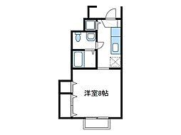 神奈川県厚木市船子の賃貸アパートの間取り