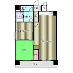 ロワールマンション美野島2[4001号室]の間取り