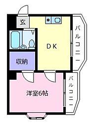 リバーフロントKS[4階]の間取り