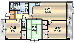 メゾンリーガル48[6階]の間取り