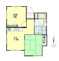 しずかマンション[1階]の間取り
