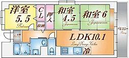 レノバール神戸[3階]の間取り