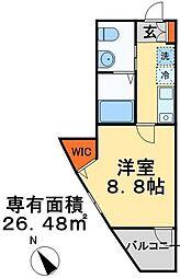 京成本線 船橋競馬場駅 徒歩5分の賃貸アパート 3階1Kの間取り