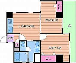 アパートメント2210[1階]の間取り