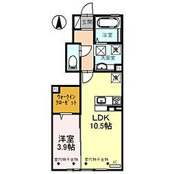 仮)D-room蜷川 A棟[102号室]の間取り
