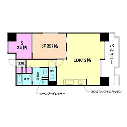 グリーンシティOSAKA1号棟[7階]の間取り