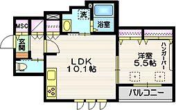 (仮称)碑文谷1丁目メゾン 2階1LDKの間取り