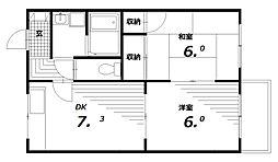 ベルハイム[2階]の間取り