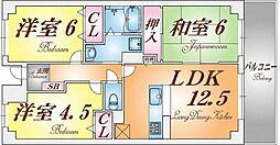 兵庫県神戸市須磨区妙法寺字ぬめり石の賃貸マンションの間取り