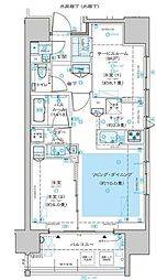 ディームス渋谷本町 8階2LDKの間取り
