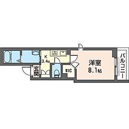 仮)新松戸3丁目シャーメゾン 2階1Kの間取り