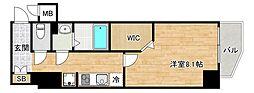 JR大阪環状線 桃谷駅 徒歩6分の賃貸マンション 3階1Kの間取り