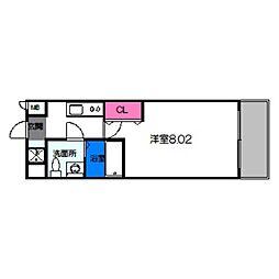 サムティ都島北通 7階1Kの間取り