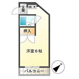 エトワール暁町[1階]の間取り