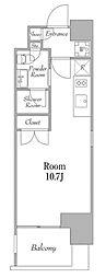カナルフロント芝浦 4階ワンルームの間取り