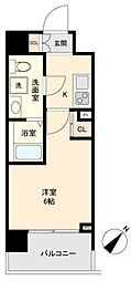 JR山手線 目黒駅 徒歩10分の賃貸マンション 3階1Kの間取り
