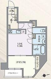 東京メトロ丸ノ内線 本郷三丁目駅 徒歩7分の賃貸マンション 9階1LDKの間取り