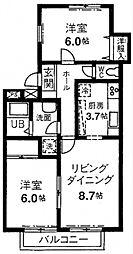 グレースカメリア市ヶ尾[2階]の間取り
