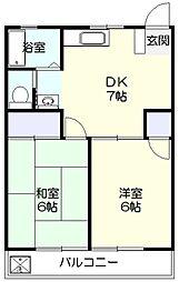 ベルハイツ[2階]の間取り