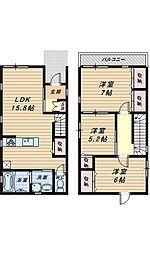 [一戸建] 大阪府堺市西区浜寺諏訪森町西1丁 の賃貸【/】の間取り