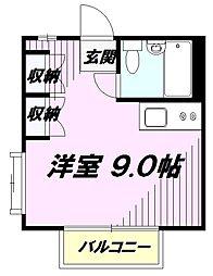 東京都八王子市暁町3丁目の賃貸アパートの間取り