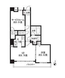 レジディア三軒茶屋II[1階]の間取り