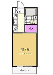 シャトール田口II[3階]の間取り