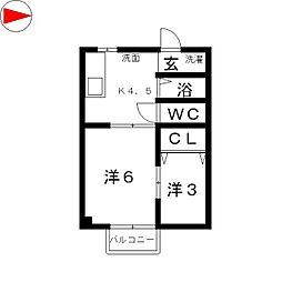 メゾン松島[205号室]の間取り