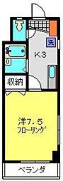 オークランドYK[203号室]の間取り