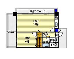 福岡県福岡市城南区長尾2丁目の賃貸マンションの間取り