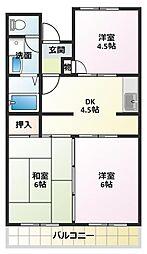 ガーデンプレイス望理郷[3階]の間取り