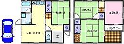 [一戸建] 大阪府松原市丹南4丁目 の賃貸【大阪府 / 松原市】の間取り