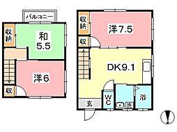 [テラスハウス] 岡山県倉敷市玉島乙島 の賃貸【/】の間取り