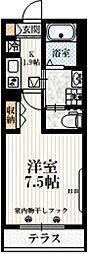 京王井の頭線 西永福駅 徒歩3分の賃貸マンション 1階1Kの間取り