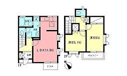 神奈川県横浜市都筑区中川3丁目の賃貸アパートの間取り