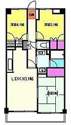 エクレール横浜[505号室]の間取り
