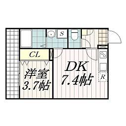AJ幕張本郷South 1[102号室]の間取り