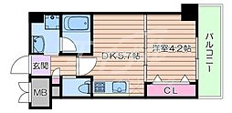 JR東海道・山陽本線 吹田駅 徒歩3分の賃貸マンション 8階1DKの間取り