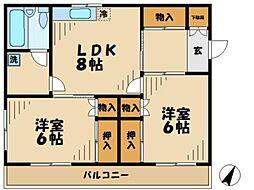 メゾン・ハヤシ[2階]の間取り